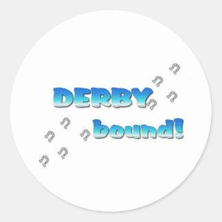 DERBY bound! Blue Silver Round Sticker