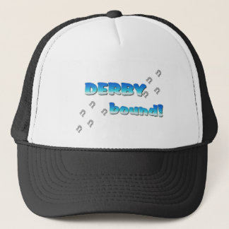 DERBY bound! Blue Silver Trucker Hat