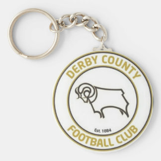 derby county football club basic round button key ring