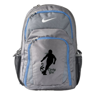 Derby Girl Silhouette, Roller Derby Skating Backpack