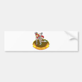 derby girl up bumper sticker