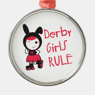 Derby Girls Rule Christmas Ornament
