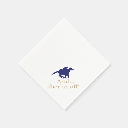 Derby Horse Racing Paper Napkins