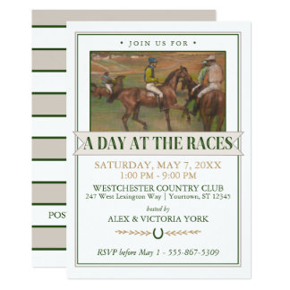 Derby Horse Racing Party | Edgar Degas Card
