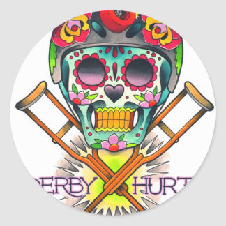 Derby Hurts Round Sticker
