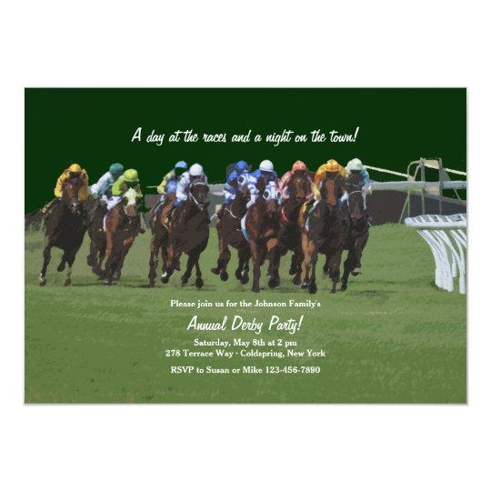 Derby Inspiration Horse Racing Invitation