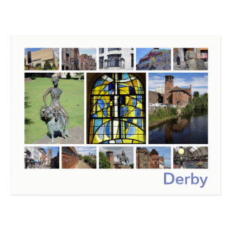 Derby multi-image postcard
