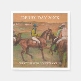 Derby Race Horses | Edgar Degas Custom Disposable Napkins