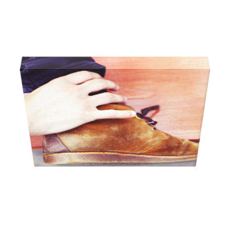 Derby Shoes Gallery Wrapped Canvas