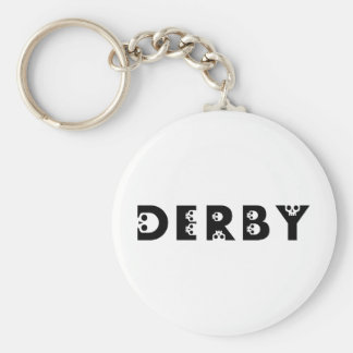 derby : skullphabet basic round button key ring