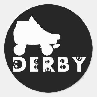 derby : skullphabet round sticker