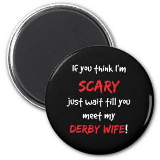 Derby Wife 6 Cm Round Magnet