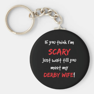 Derby Wife Basic Round Button Key Ring