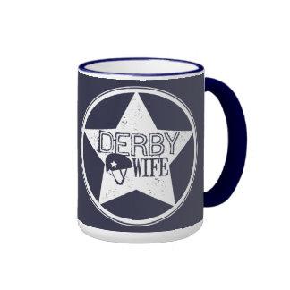 Derby Wife, Roller Derby Ringer Mug
