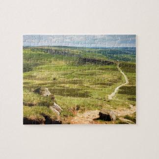 Derbyshire Carl Wark and Burbage Rocks Jigsaw Puzzle