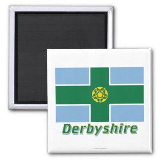 Derbyshire Flag with Name Magnet