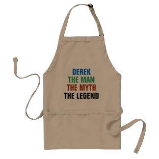 Derek the man, the myth, the legend standard apron