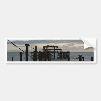 Derelict West Pier Brighton England Bumper Sticker