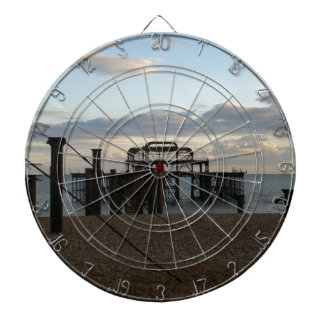 Derelict West Pier Brighton England Dartboards