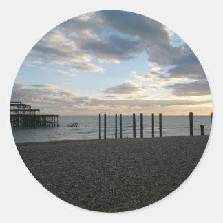 Derelict West Pier Brighton Sticker