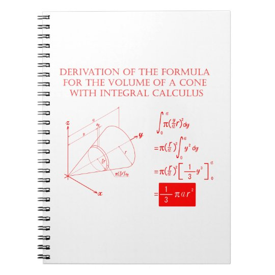 Derivation of the formula for the volume of