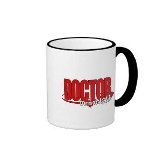 DERMATOLOGIST LOGO BIG RED DOCTOR RINGER MUG