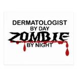 Dermatologist Zombie Postcard