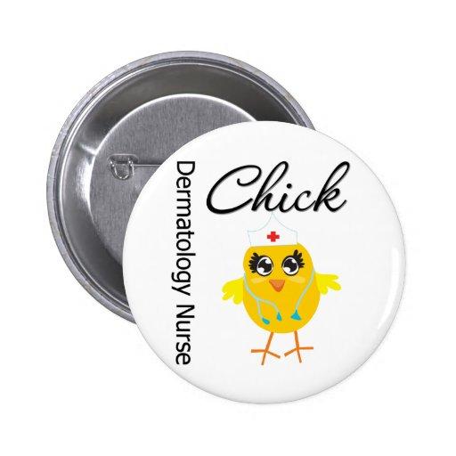 Dermatology Nurse Chick v1 Pins