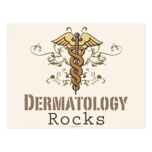 Dermatology Rocks Caduceus Postcard