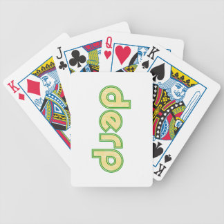 Derp 1 playing cards