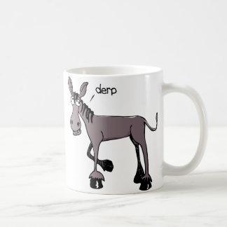 Derp Donkey funny coffee mug