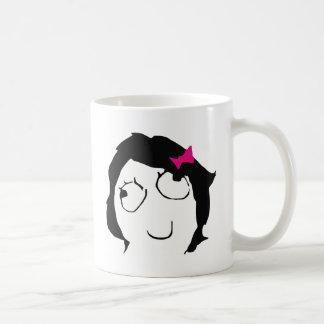 Derpina - black hair, pink ribbon basic white mug