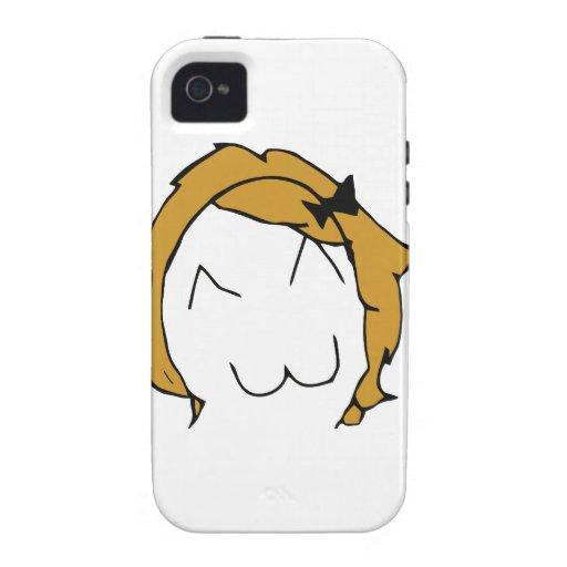 Derpina - blond hair, ribbon - meme vibe iPhone 4 case