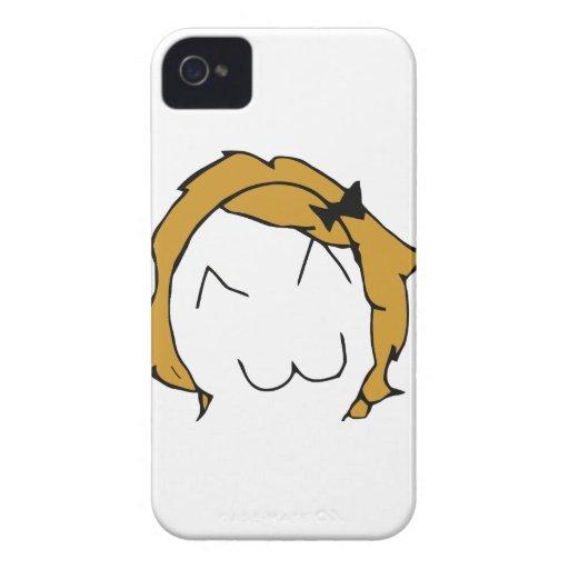 Derpina - blond hair, ribbon - meme Case-Mate iPhone 4 case