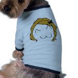 Derpina - blond hair, ribbon - meme dog shirt