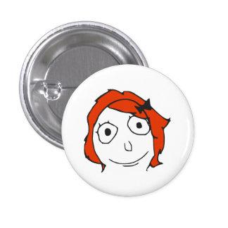 Derpina Red Hair Rage Face Meme 3 Cm Round Badge