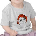 Derpina Red Hair Rage Face Meme Tshirt