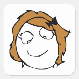 Derpina Square Stickers