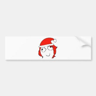 Derpina Xmas Meme Bumper Stickers