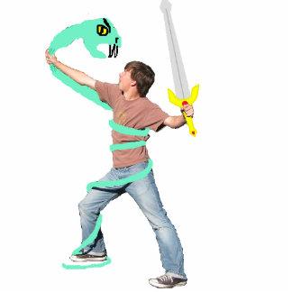 Derrick vs Snake Standing Photo Sculpture