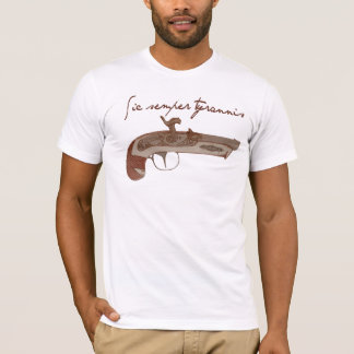 Derringer Pistol - Death To Tyrants T-Shirt