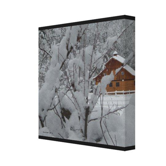Derry Winter Ranch 12 x12 Canvas