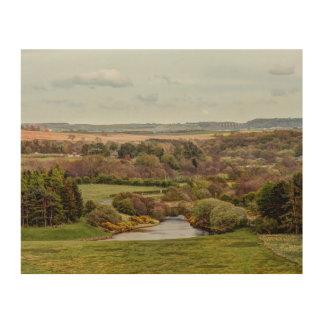 Derwent reservoir Consett landscape picture Wood Wall Art