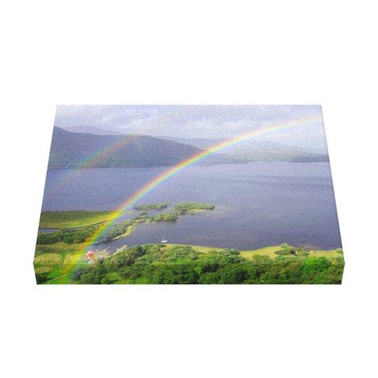 Derwent Water Double rainbow Canvas Print