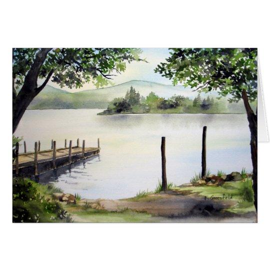 Derwent Water, Lake District, England Card