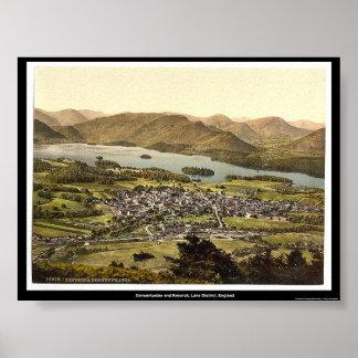 Derwentwater and Keswick, Lake District, England Poster