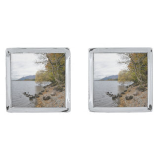Derwentwater Silver Finish Cufflinks