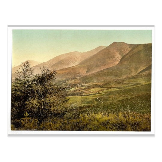 Derwentwater, Skiddaw, from Latrigg, Lake District Postcard
