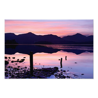 Derwentwater sunset, The Lake District Photo Print