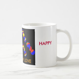 des88, BE, HAPPY, COLORS OF LOVE Basic White Mug